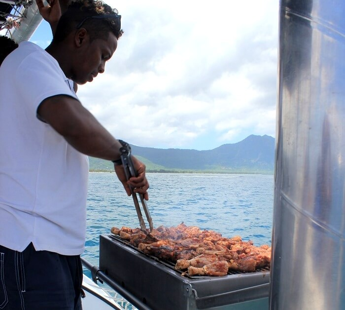 Food on Catamaran cruise