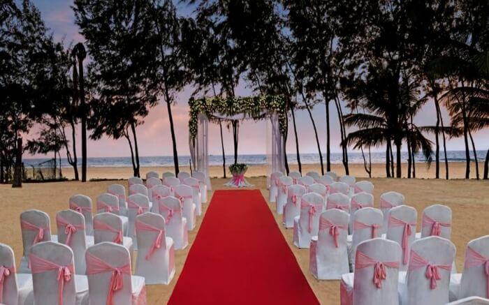 Wedding arrangement in Kenilworth Resort Goa