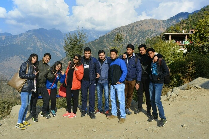 A group of travelers on their weekend trip to Mcleodganj