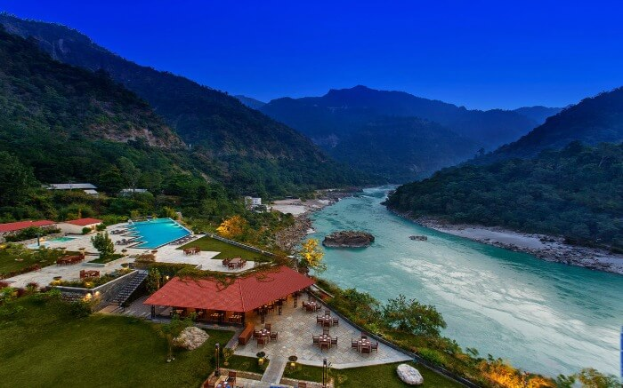 Aerial view of Rishikesh