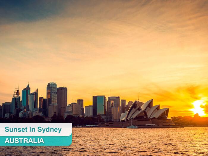 Sunset in Sydney in Australia