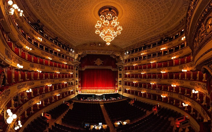 Interior of Teatro La Scala - where attending performance is considered among top things to do in Italy