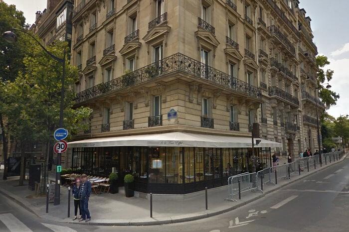 The entrance of the Brasserie de la Tour Eiffel near Eiffel Tower in Paris