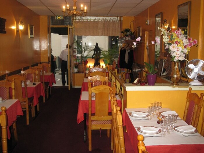 The simple dining of Goa restaurant that is one of the Indian restaurants in Paris near Eiffel Tower