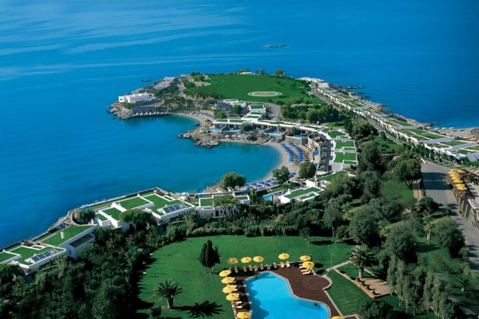 Aerial view of Grand Resort Lagonissi in Athens