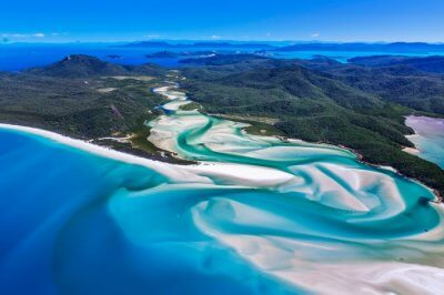 Top view of Whitsundays Island