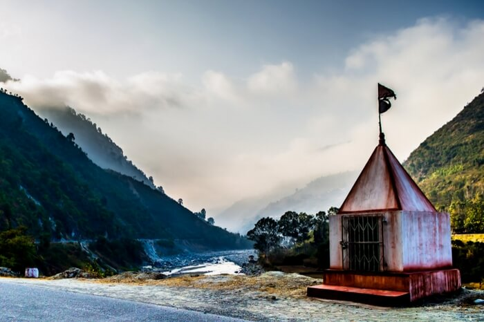 Temple by the highway en route to Ranikhet in Uttarakhand