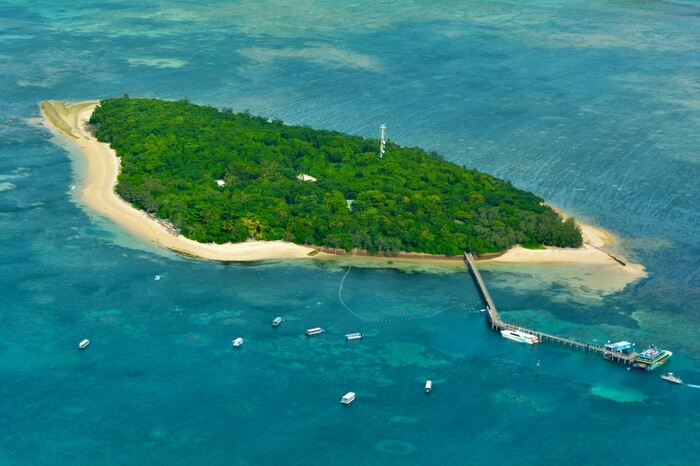 Top view of Cairns island in Australia