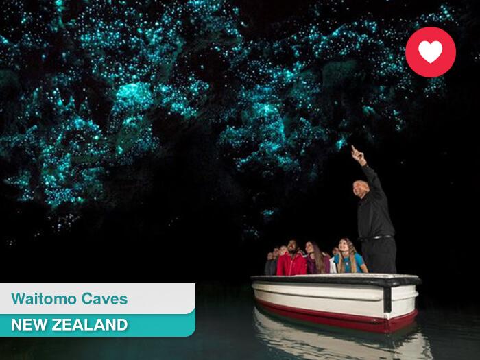 Waitomo Caves in New Zealand