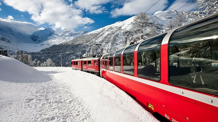 train ride in switzerland
