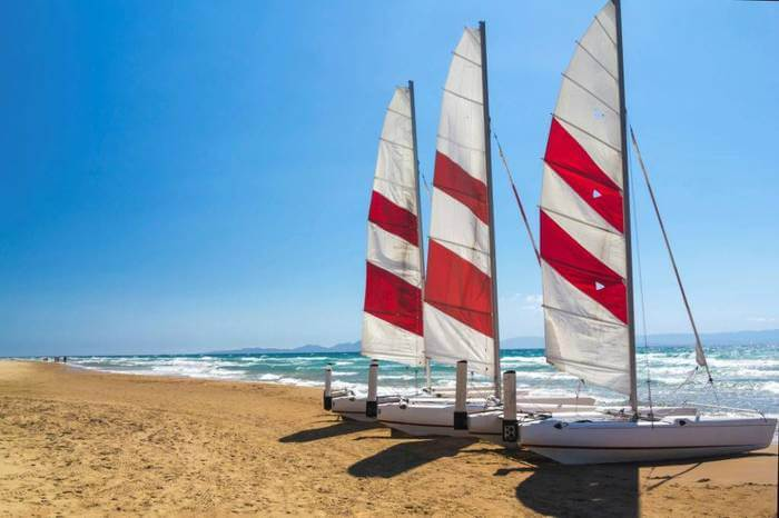 catamaran cruises on beach