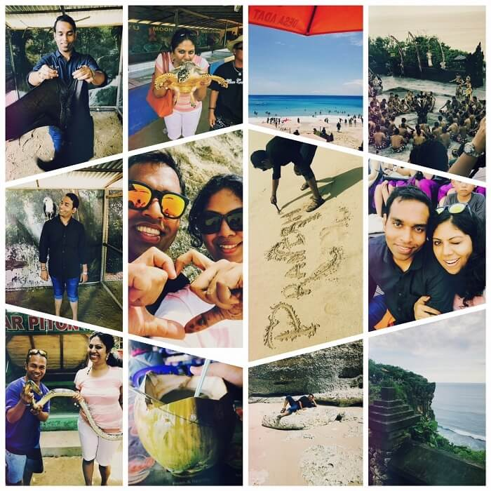 Pranisha and her husband enjoy sightseeing in Bali