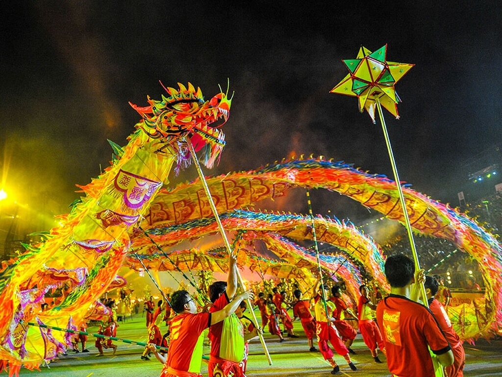 people celebrating a festival of Singapore