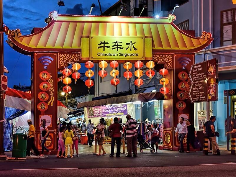 a flea market in Singapore