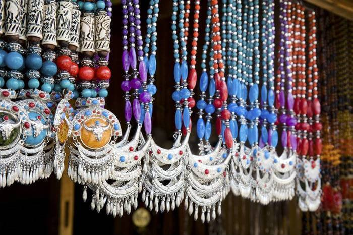 Colorful traditional Uttarakhand silver necklace