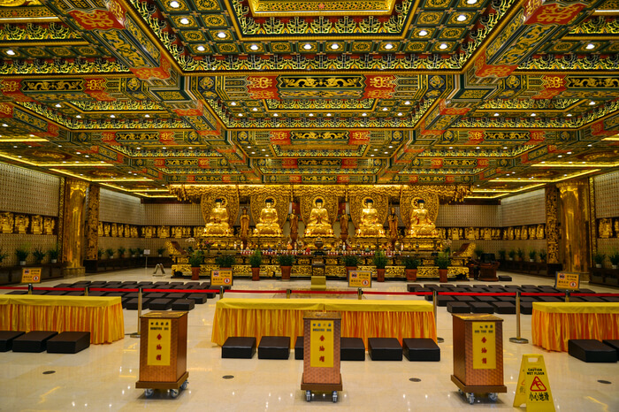 Interior of Po Lin monastery