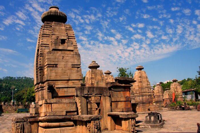 Baijnath temple under the blue sky