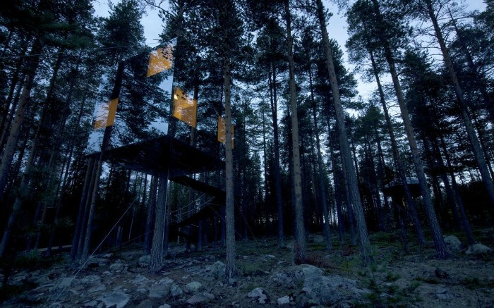 Tree house in Tree Hotel of Sweden