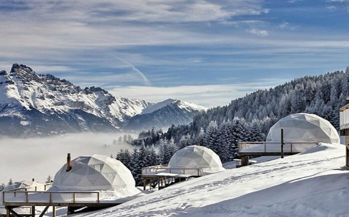 Whitepod in Switzerland- one of top glamping honeymoon destinations in the world