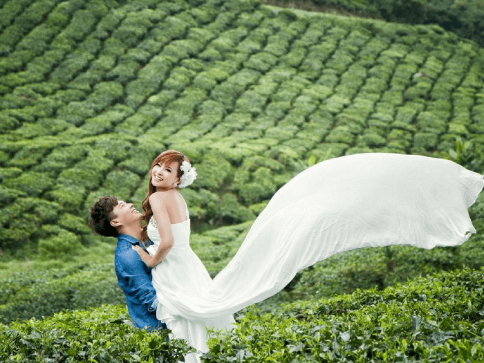 Happy couple in Kerala