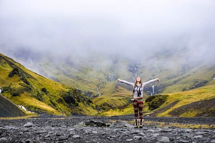 solo female traveler in Iceland