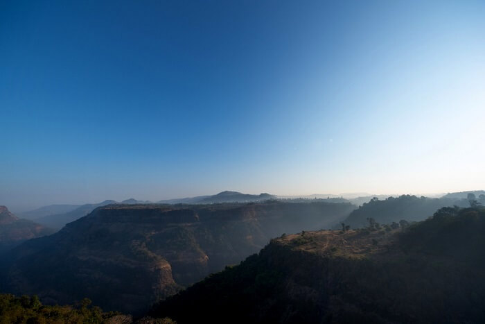 Sunrise over the hills of Khandala, Maharashtra