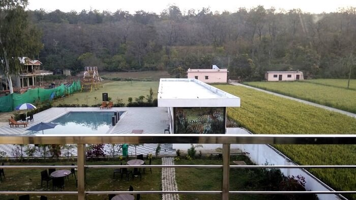 our hotel view in Jim corbett