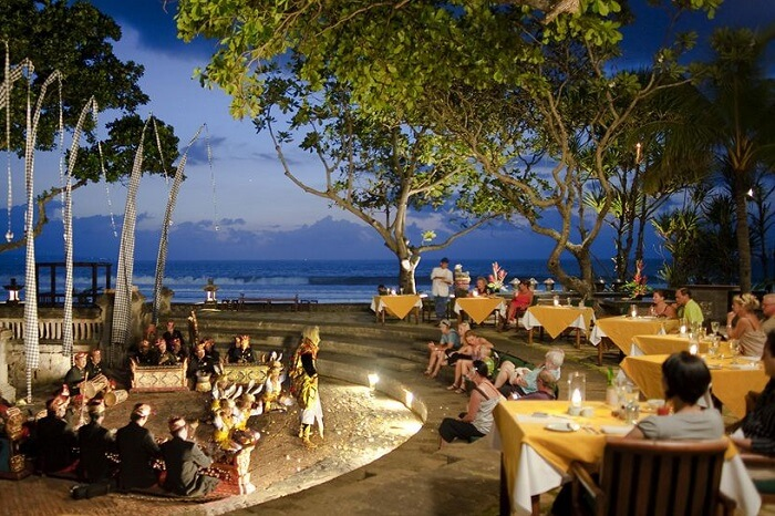 A cultural evening during a destination wedding at The Oberoi in Bali