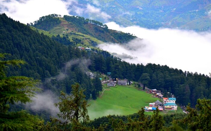 Bird-eye view of Khajjiar