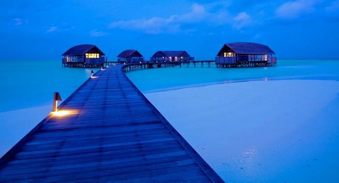 Luxury houses in cocoa island