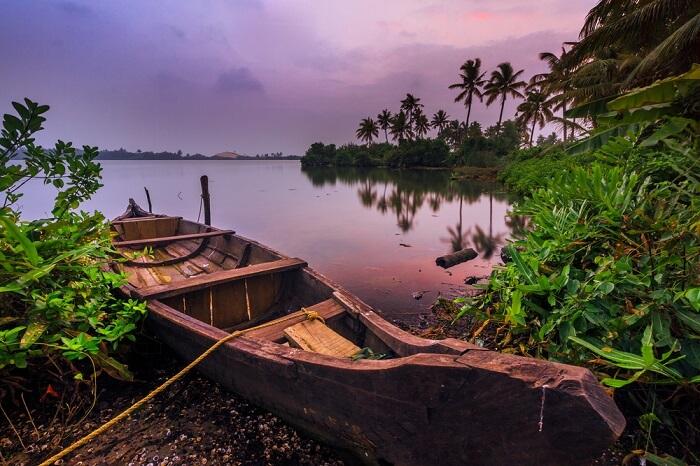 boat in monsoon