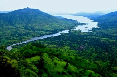 Mountains and valleys in Mahabaleshwar India