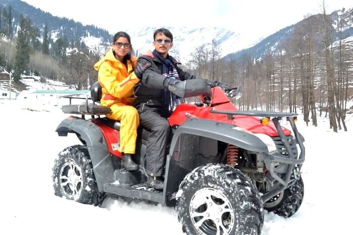 quad biking in solang valley