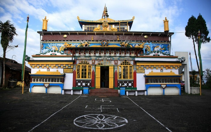 Facade of Ghoom Monastery in Darjeelingss