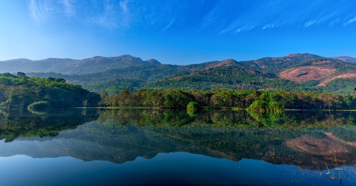 a crystal clear lake in Idukki