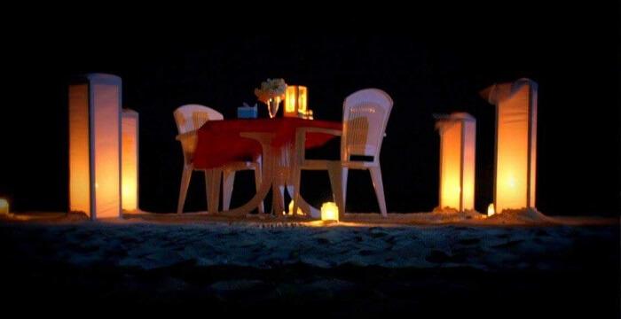 romantic dinner maldives