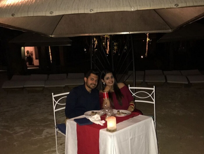candle light dinner for couples in mauritius