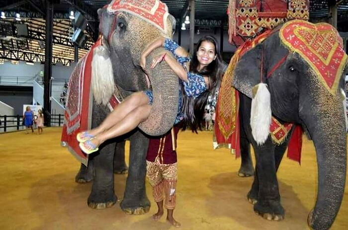 elephant show at nong nooch