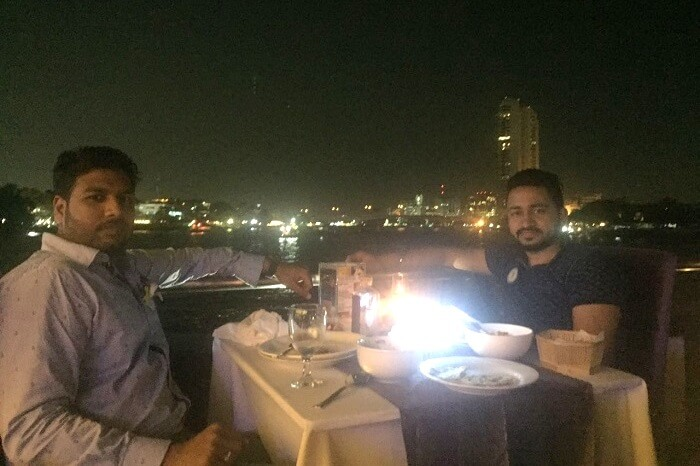 enjoying fine dining in Bangkok