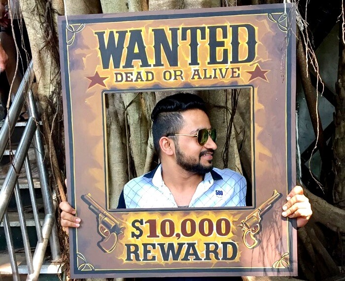wanted poster in dreamworld