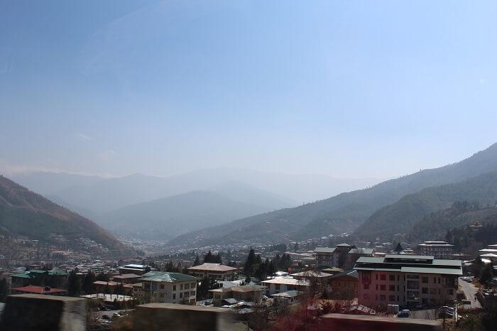snow capped peaks in Bhutan