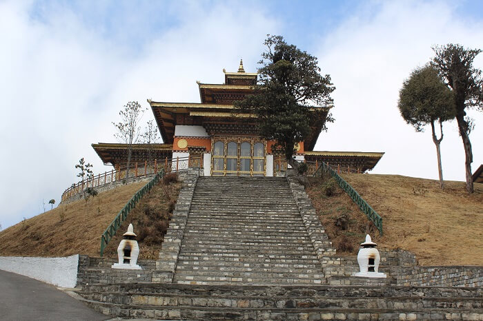 steps leading to a temple in Paro