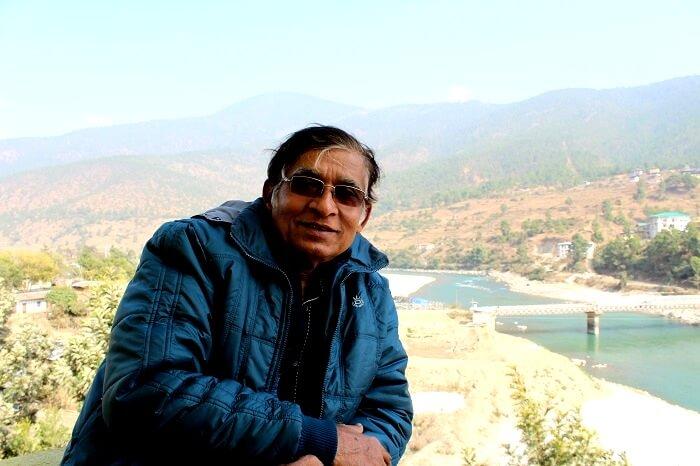 pradipranjan posing in front of an incredible view