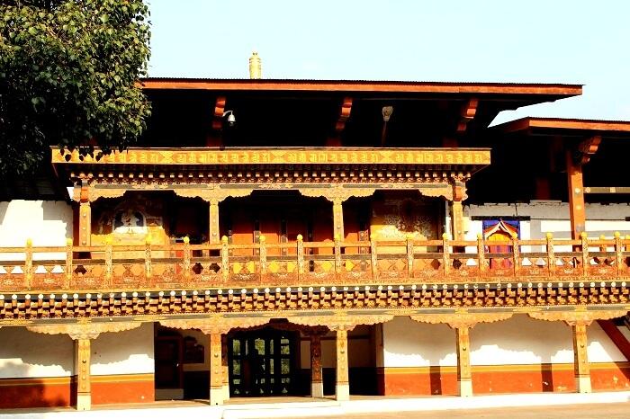 a beautiful monastery in Paro