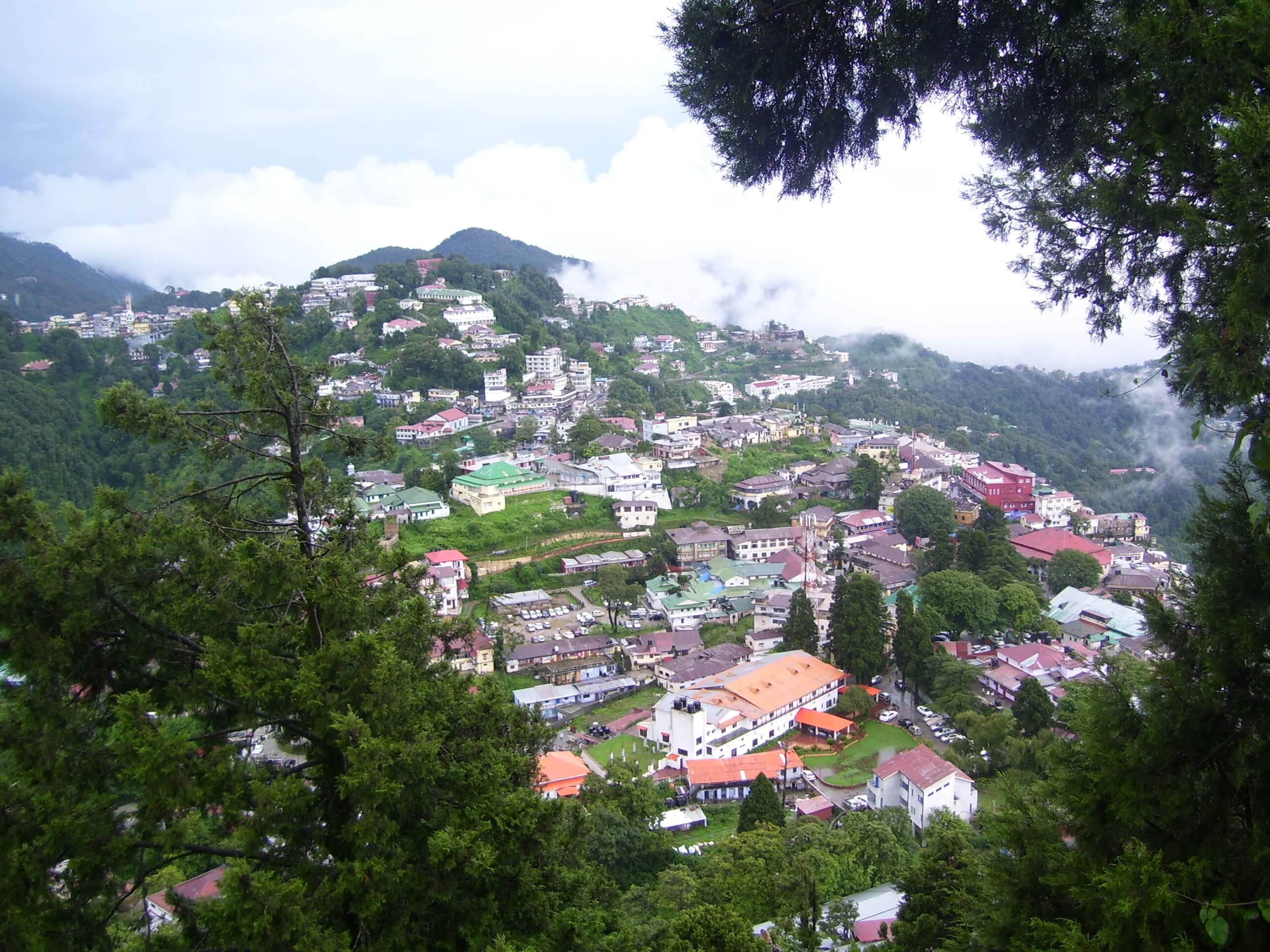 a view of Mussoorie town