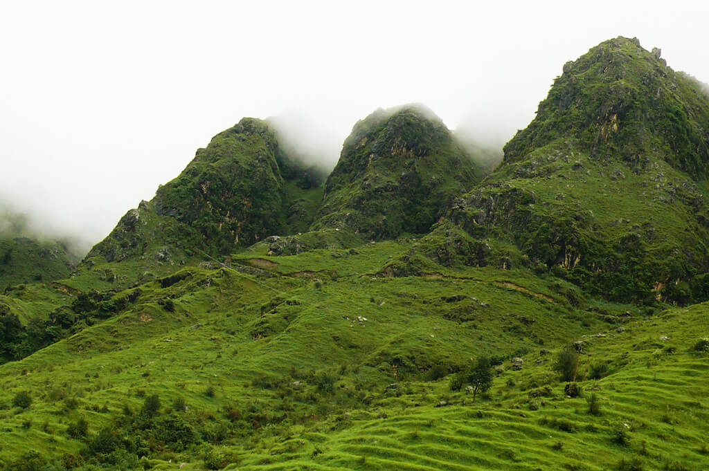 Chakrata mountains over by mist