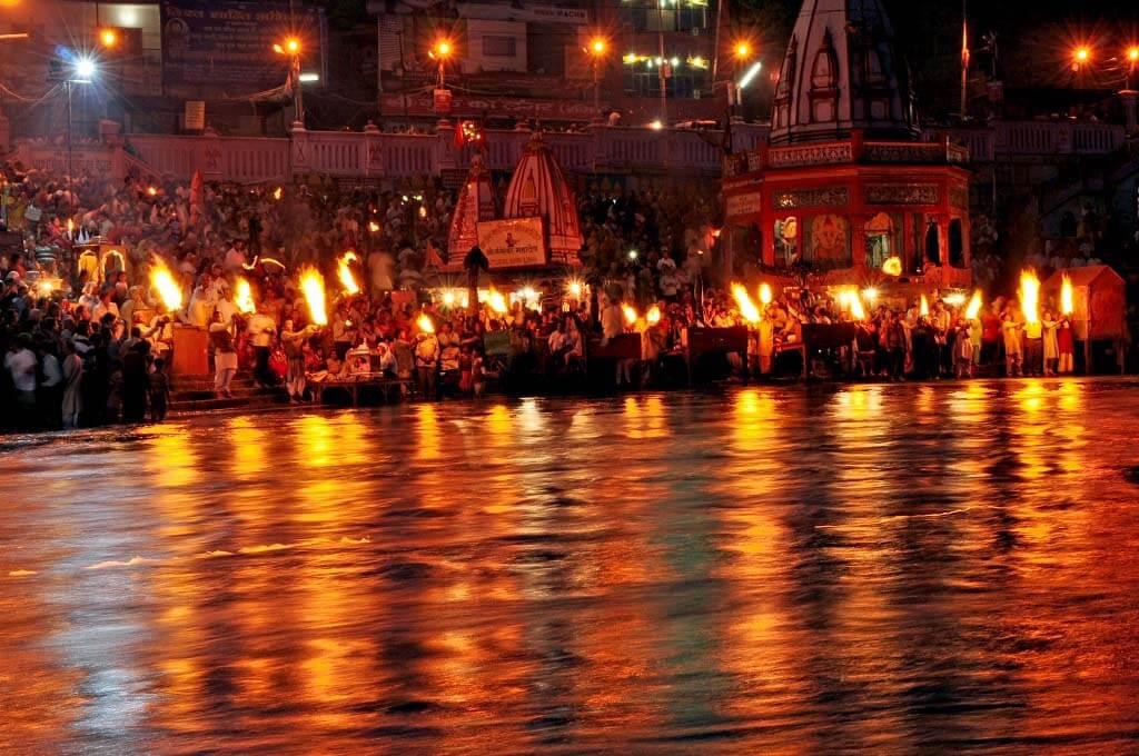 Aarti at Haridwar ghat