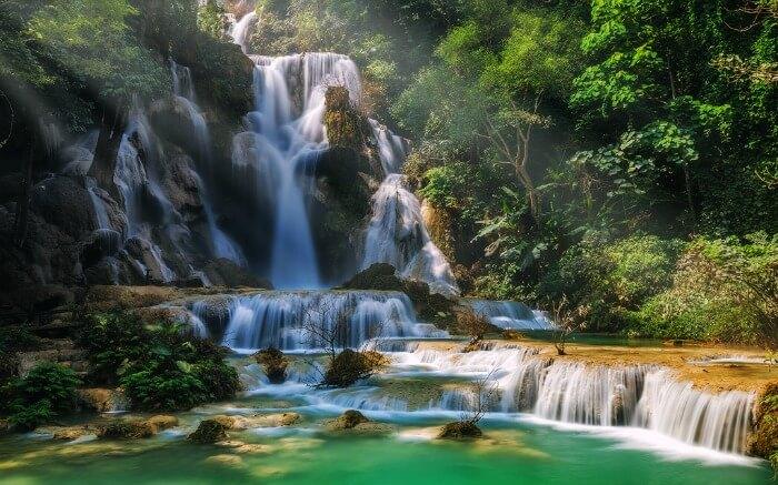 Kouang Si Falls in Laos