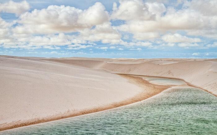 Lagoon in Lencois Maranhenses National Park