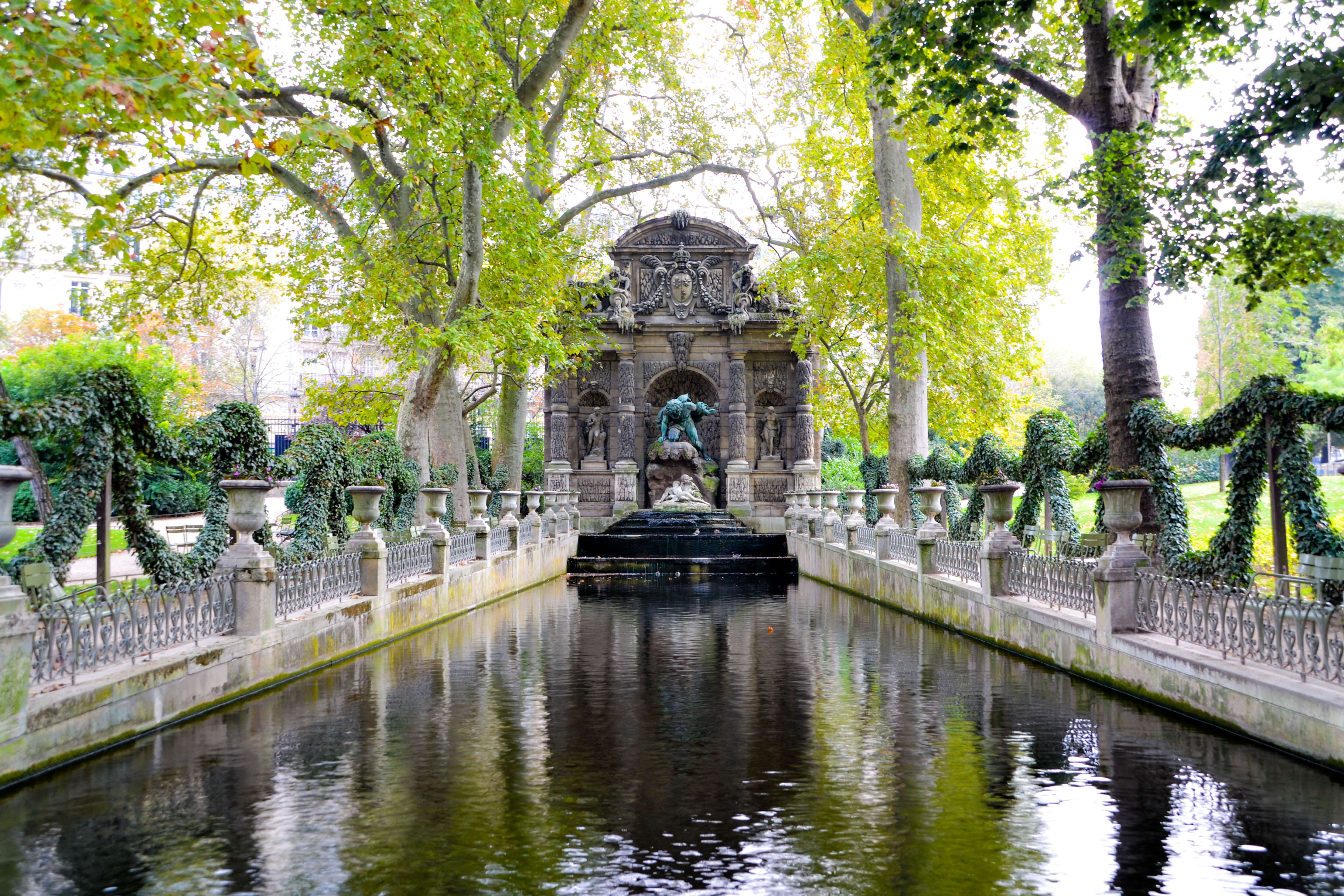 a canal in Luxembourg gardens Paris